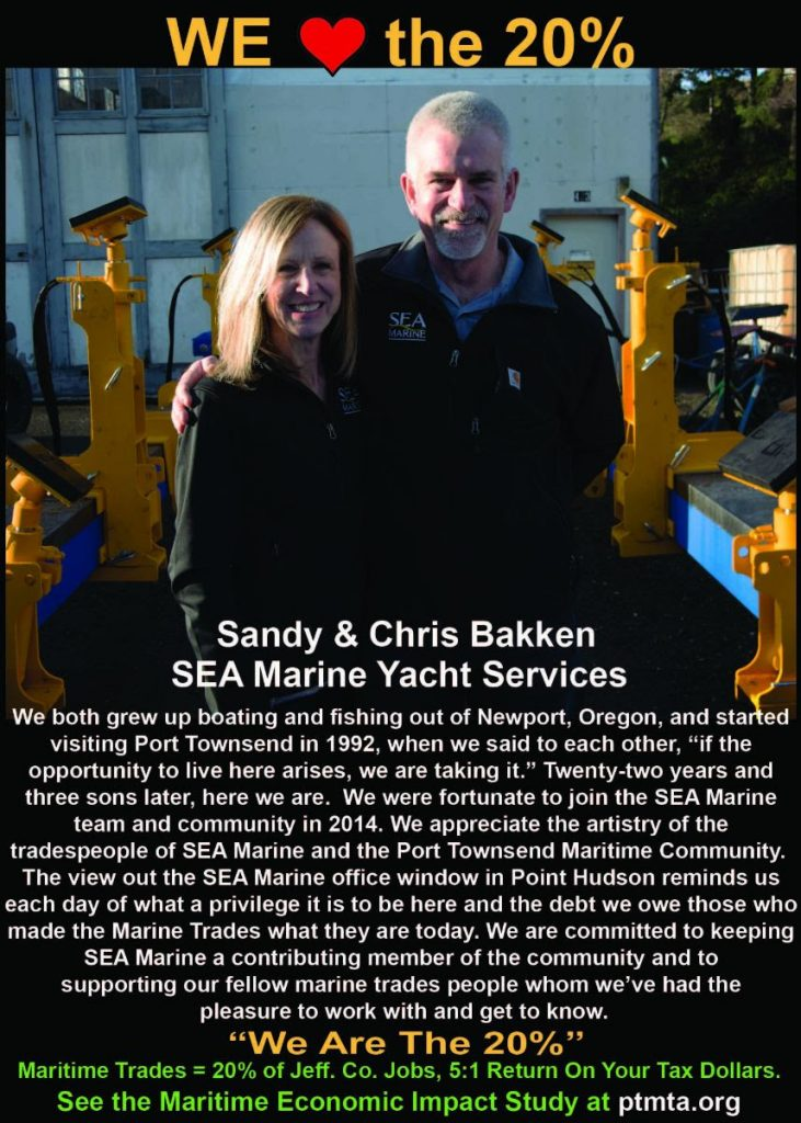 We are the 20%, marine trades in Jefferson County WA